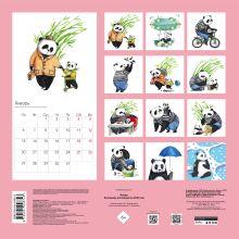Обложка сзади Панды. Календарь настенный на 2020 год (300х300 мм)