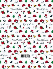 Обложка сзади Фрида Кало. Ежедневник недатированный (А5, 120 листов, золотая евроспираль, УФ-лак на обложке)
