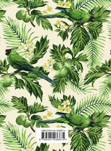 Обложка сзади Тропические попугаи. Ежедневник недатированный (А5, 120 листов, золотая евроспираль, УФ-лак на обложке)