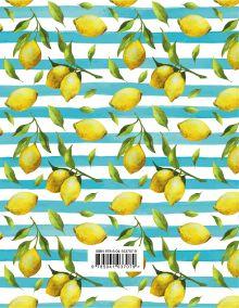 Обложка сзади Лимоны. Ежедневник недатированный (А5, 120 листов, золотая евроспираль, УФ-лак на обложке)