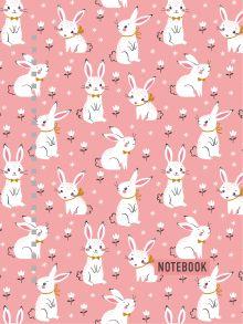 Тетрадь в твердом переплете. Розовые кролики. А5, 120 стр.