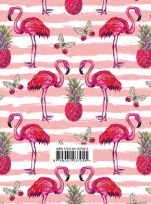 Обложка сзади Фламинго. Ежедневник недатированный (А5, 120 листов, золотая евроспираль, УФ-лак на обложке)