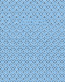 Обложка Bullet Journal (Голубой) 162x210мм, твердая обложка, пружина, блокнот в точку, 120 стр.