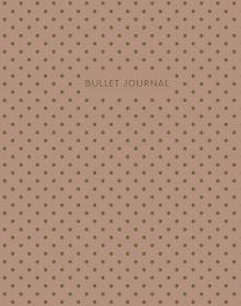 Bullet Journal (Кофейный) 162x210мм, твердая обложка, пружина, блокнот в точку, 120 стр.