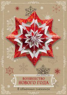 Волшебство Нового года. Объемные снежинки (А4, набор для вырезания, 20 листов, в европодвесе) (6 маленьких и 2 больших)