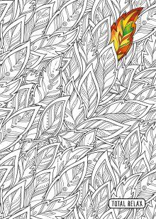 Обложка Тетрадь-раскраска Листики. А5, 48 листов, клетка, накидка