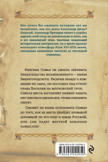 Обложка сзади Месть княгини Софьи Александр Прозоров