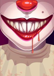 Обложка Клоун. Тетрадь школьная в мягкой обложке, 48 л.