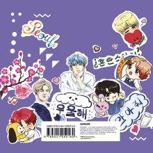 Обложка сзади The ARMY of K-POP stickers. Более 100 ярких наклеек!