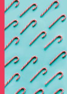 """Блокнот с резинкой """"Christmas Candy"""" (бирюзовый). А5, твердый переплет, 192 стр."""