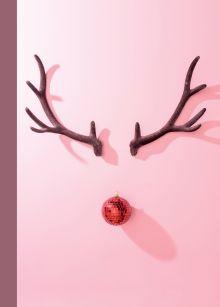 """Блокнот с резинкой """"Олень"""" (розовый). А5, твердый переплет, 192 стр."""