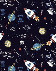 Обложка сзади Дневник школьный. Космос (А5, 48 л., прошитый цветной ниткой)