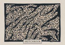 Обложка Скетчбук. Леопардовые сны (формат В5, 128 стр, открытый корешок, бумага слоновая кость)
