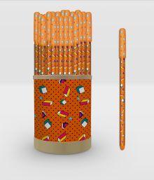 Zine. Ручка в тубусе (оранжевая)