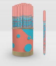 Zine. Ручка в тубусе (голубая)
