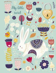 Обложка Блокнот с замочком. Веселый кролик (в подарочном коробе, 160 стр., цветной)