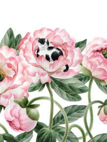 Обложка Котик в цветах. Тетрадь в мягкой пластиковой обложке, А5, 80л.