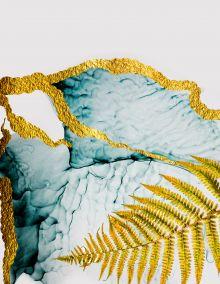 Обложка Золотой папоротник. Тетрадь на кольцах, А5, 100 л., с цветными разделителями, зол. фольга