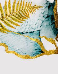 Обложка сзади Золотой папоротник. Тетрадь на кольцах, А5, 100 л., с цветными разделителями, зол. фольга