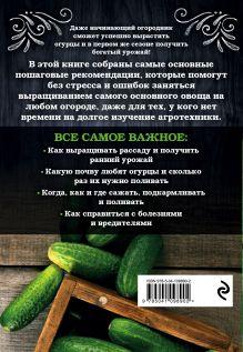 Обложка сзади Огурцы. Богатый урожай без ошибок Анна Белякова