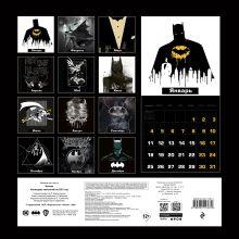 Обложка сзади Бэтмен. Календарь настенный на 2021 год (300х300 мм)