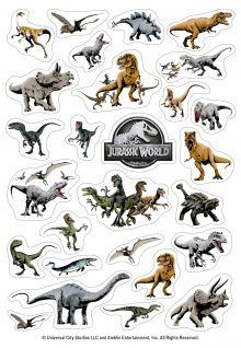 Динозавры Jurassic World. Набор наклеек (формат А5, в пакете)