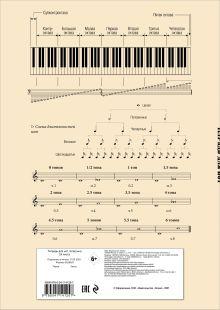 Обложка сзади Тетрадь для нот. Классика (24 л., А4, вертикальная, скрепка, бежевая)