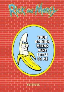 Рик и Морти. Блокнот. Банан Рик (А5, 72 л., контентный блок, со стикерами)