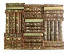 Библиотека всемирной литературы в 40 томах. Книги в коллекционных кожаных переплетах ручной работы в стиле 19 века с тремя видами тиснения и золочёными обрезами