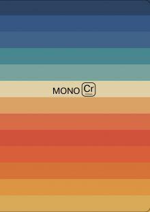 Блокнот. Monochrome (полоска) (формат А4, мягкая обложка, круглые углы, блок в точку)