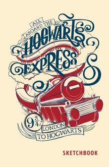 Обложка Скетчбук. Хогвартс-экспресс (138х212 мм, твердый переплет, 96 стр., офсет 160 гр.)
