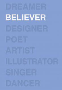Ежедневник Believer (лазурный). А5, твердый переплет, блинтовое тиснение, полусупер, 224 стр.
