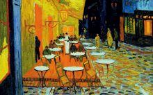 Кардхолдер. Винсент Ван Гог. Ночное кафе (в форме книжки, 215х65 мм)