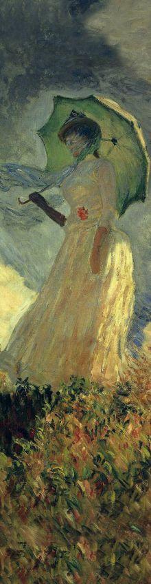Закладка с резинкой. Клод Моне. Женщина с зонтиком (Арте)